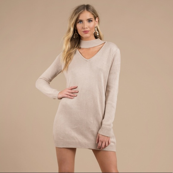 f77bc31c86 Tobi Keyhole Sweater Dress. M 5baf63e41b3294262a8e2bab
